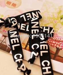 Wholesale brand Fashion simple elastic hair band for women Letters hair accessories bracelets