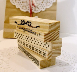 Wholesale-Freeshipping! NEW Lace Wood stamp Set   Multi-purpose   dot & bow stamp   1pcs per set   DIY funny work   Wholesale
