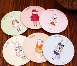 Wholesale Lapin Cute - 2016 new Free Shipping New cute fifi lapin hand make-up Mirror portable pocket cosmetic mirror   Fashion   Wholesale