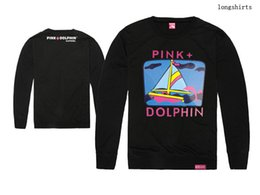 Free shipping Pink dolphin sailing clothes printed t-shirt pink dolphin tee shirts 100% cotton long sleeve t shirt 19 style