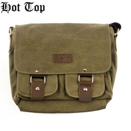 HotTop 100% New Brand Pro Canvas Handbags Mode pour hommes, sac à bandoulière classique en toile extérieure Voyage décontracté Randonnée Sac militaire à partir de beige boston sacs fabricateur