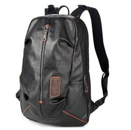 Sac à dos noir de cuir PU Sac à dos Hommes Pour 15 pouces pour ordinateur portable multi Pocket Intercalaire Day pack Grand Voyage à partir de sacs de jour noir fabricateur