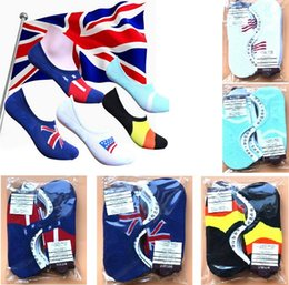 2016 Newest cotton blend national flag men socks boat socks summer short sock 5 colors in stock