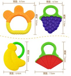 Wholesale Baby Teether modeling Silicone teethers appease Watermelons bananas grapes bottle bracelet neonatal teether