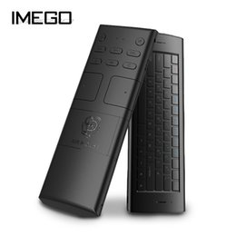 Wholesale iMego M20 G Ultra Sensitive Axial M Wireless Distance Full Keys Mini Gaming Rechargeable Air Mouse For Android Box TV Etc
