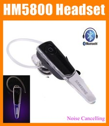 Wholesale led Earphone HM5800 ear hook bluetooth headset Wireless Stereo Headphones with Mic for Samsung handsfree with bass HBS900 EAR043