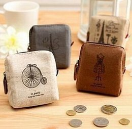 Wholesale Best price Classic Retro Canvas Tower Wallet Card Key Coin Purse Bag Pouch Case pattern for Women Girl
