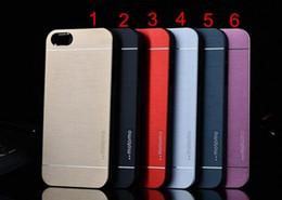 Wholesale Luxury Ultra thin Motomo Brushed Brush Aluminium Metal Slate Hard Back Case Cover For iphone inch iphone plus