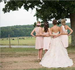 2019 Blush Pink Country Wedding Dresses with Ruffles Sweetheart Neckline Lace Beads Sweep Train Organza Vintage Bridal Gowns A Line Dress