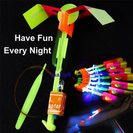 New LED with the helicopter flying arrow umbrella children toy space flying saucer Halloween ejection flashing LED light Christmas toys
