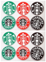 Wholesale Free DHL Table decoration Starbucks logo Mermaid silicone coaster round platemat mug coffee cup mat pad black red green