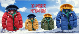 2016 Retail Children's Outerwear Coats Fashion double-breasted Woolen Trench Kids Winter Jacket Warm Cotton Children's coat