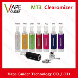 Wholesale Electronic Cigarette ml EGO MT3 Atomizer Bottom Coil EGO E Cigs MT3 Clearomizer Cartomizer With Replaceable Coil High Quality