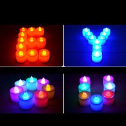 Velas de cumpleaños barcos en Línea-El parpadeo del LED Vela sin llama Portacandelitas batería de té Velas de luz fiesta de cumpleaños de la boda Pareja velas de Navidad mercancías libres del envío