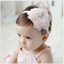 Toddler Baby Accessories Kid Lace Flower Headbands For Girls Children Hair Accessories Baby Girl Headdress Infant Baby Hair Sticks 20pcs lot