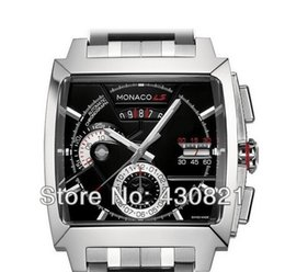 Wholesale-Hot Sell ! Calibre 12 LS CAL2110.FC6257 Men's black dial stainless stee automatic movement Men's watches wristwatch