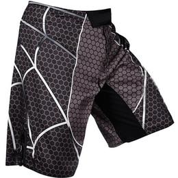 Wholesale XS S M L XL Man shorts male capri pants spider MMA fight shorts black red color