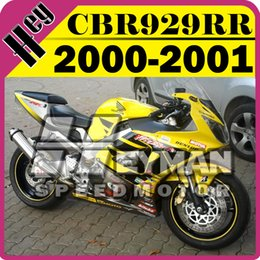 Wholesale Heymanspeedmotor Aftermarket Injection Mold Fairings For Honda CBR900RR929 CBR RR Black Yellow H90H554 Free Gifts