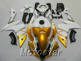NEW Fairings for YAMAHA YZF R1 2007 2008 golden white black motorcycle fairing kits YZF-R1 07 08 ER7 + 7 gifts