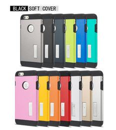 Armor TPU Shockproof Case Cover with Stander Holder for iPhone 4 4s 5 5s 6 6s Plus 5.5inch No Package