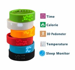 Wholesale 5 Color Smart Sports Bracelet original Fitbit flex health records pedometer step counter wireless sleep bracelet W2