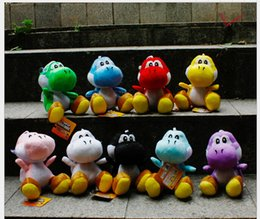Wholesale Super mario push toys quot Yoshi plush dolls Red Blue Green Pink Black Coffee colors SuperMario TOY