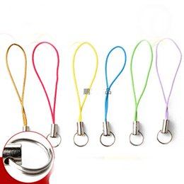 Wholesale 6cm Lariat Lanyard mobile straps Hang Rope double loop split jump rings cell art keychain Charm Clasps Connector hook holder jewelry making
