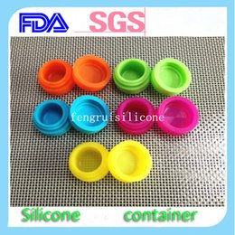 Solid color China Non-Stick Stackable Silicone Concentrate Container Dabs Wax Bho,Rasta Silicone Jars Container, Silicone Container Jars Dab