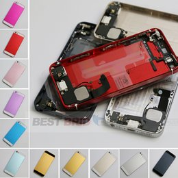 Wholesale High quality for iphone g full housing metal alloy back cover flex cable buttons assembly back housing completed with small parts