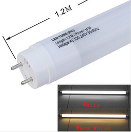 Wholesale Fedex Free Ship W ft AC V Milky Transparent Cover High Brightness Plastic LED Tube Light per