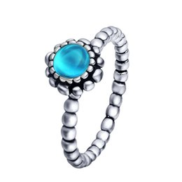 Wholesale Wholeasle Sterling Silver Aries Birthstone Ring European Fine Jewelry Rings For Women Birthday wedding Anniversary Gift