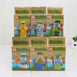 Wholesale 6pcs set Terraria block action figure Thing Building Bricks Blocks Minifigure DIY Toy set Kid Gift