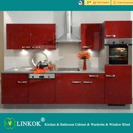 Wholesale Linkok Furniture white lacquer kitchen cabinets and portable kitchen cabinets and commercial kitchen cabinet