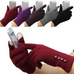 2017 choix de sports 4 couleurs choix Mode Femmes hiver tactile écran gants Sports de plein air chaud 4 boutons gants Livraison gratuite cinq doigts gants DHL gratuit abordable choix de sports