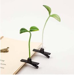 Wholesale Cute plant hairpin grass hairpin The mushroom hair clips Small bean sprouts hairpin simulation plants children hair clips
