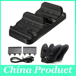 New Dual Charging Dock Controllers Charger & 2 Rechargeable Batteries Charging Cable Charge Kit For Xbox One With Retail Box 010208