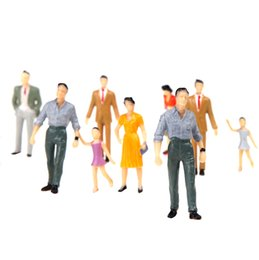 Wholesale New set G Scale Mix Painted Model People Train Park Street Passenger Figures for Layout and Landscape Models order lt no track