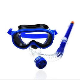 2017 natation costume sec Nouvelle Arrivée Natation Scuba Anti-Fog Goggles Semi-sec avec des enfants des lunettes de natation lunettes de protection en plastique tube respiratoire bon marché natation costume sec