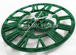 Wholesale Modern Design Retro Wall Clock Gear Roman Clocks European Antique Time Home Decoration Sand Powder