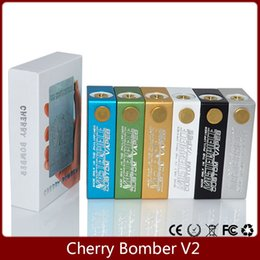 Wholesale Cherry bomber V2 box Mod with Magnet switch Mechanical Mod Connector for double Battery for RDA Atomizer VS KBOX subox