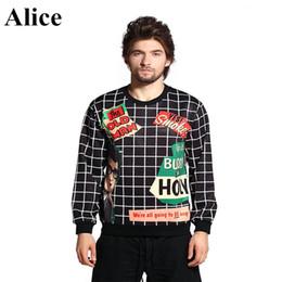 Wholesale w1217 Alice autumn new men hoodie English cartoon fleece The European and American wind menswear couples sweatshirts
