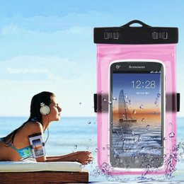 100% Waterproof Bag for Iphone 6 Samsung galaxy mobile phones cell phone water proof neck pouch bags with Lanyard   arm band wholesale
