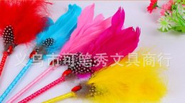 Vente en gros nouveau Signature de mariage Pen arrivée plume de mariage Favor Diamante Feather Pen pour la décoration de mariage fournitures de produit 24pc / lot à partir de wedding feather pens wholesale fabricateur
