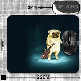 Wholesale-New Anti-Slip PC Laptop Thicken Gaming Cartoon Comfy Anime Pug Dog Mouse Pad