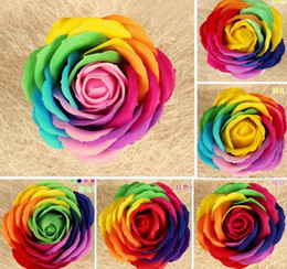 "9pcs 3"" Multicolor Artificial Flower Rose Soap For Wedding Party Birthday Souvenirs Gifts Favor Home Decorate"