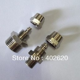 Wholesale 50pcs mm thread brass plated quick connector RPC6 rapid fittings hose clamp connectors