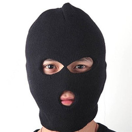 Sombreros casual para los hombres en Línea-Máscara moda Unisex Mujer Hombre caliente del invierno de la cara llena de la cubierta de esquí de la gorrita tejida del casquillo del sombrero el envío libre