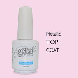 2pcs lot professional metallic top coat for metallic soak off led uv gel nail polish
