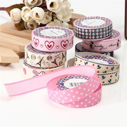 Wholesale Lovely Fabric Tape - NEW !! Fashion Design Lovely Cartoon Fabric Satin Craft Tape Sticky Adhesive Decorative Ribbon Trim Decor