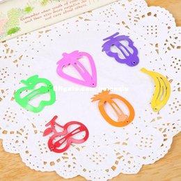 Лакокрасочные магазины Онлайн-мода мило конфеты цветные краски шпилька сторона папки BB папку красочные фрукты магазин аксессуары для волос новорожденных девочек GIFs